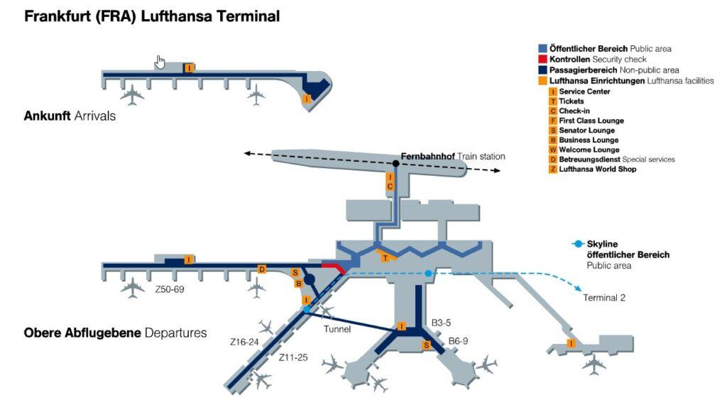 схема аэропорта Франкфурт